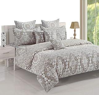 Swayam 11023 Bedding Set, Cotton, King, Multi-Colour, W 34.0 x H 29.6 x D 6.0 cm