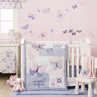 Bedtime Originals Butterfly Meadow 3-Piece Bedding Set - Pink, Purple, White