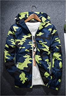 New Spring Summer Hooded Jacket Men Thin Camouflage Jackets,Yellow,5XL