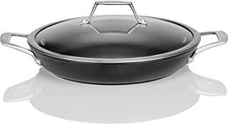 TECHEF - Onyx Collection, 12-Inch Everyday Pan with Glass Lid, coated with New Teflon Platinum Non-Stick Coating (PFOA Free)