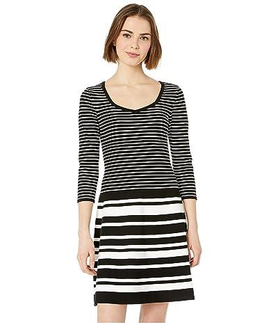 Nanette Lepore Stripe Dress (Ivory Multi) Women