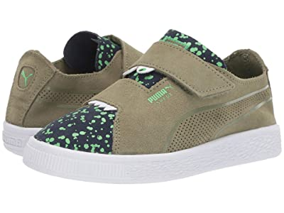 Puma Kids Suede Deconstruct Monster V (Little Kid) (Olivine/Peacoat/Irish Green) Boys Shoes