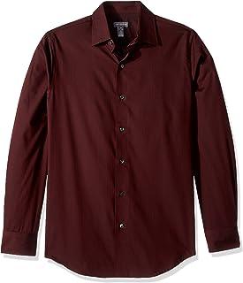 Van Heusen Men's Slim Sateen Stripe Long Sleeve Shirt (Regular & Slim Fit)