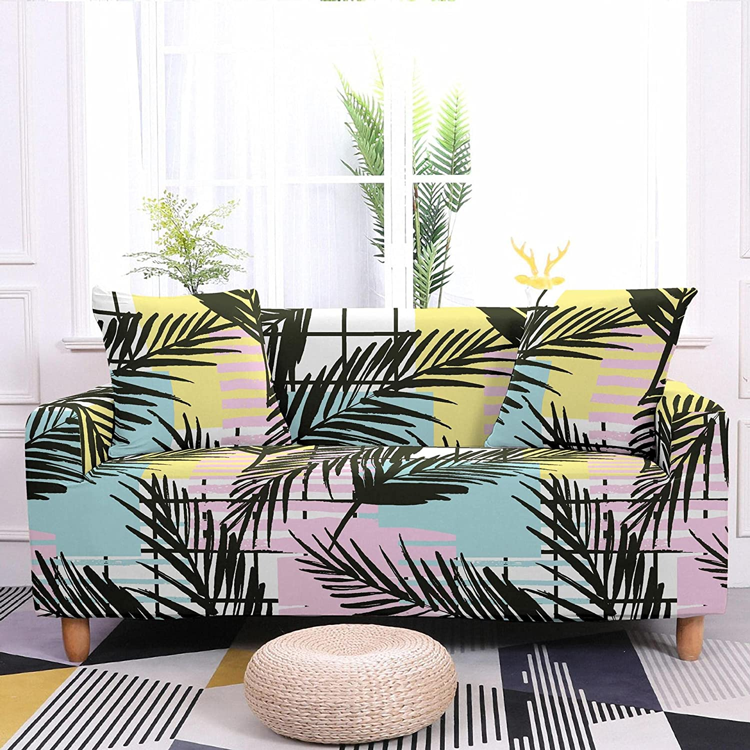 AMZAO High In a popularity Stretch Sofa Covers 1 Painting Popular Abstract 2 Seater 4 3