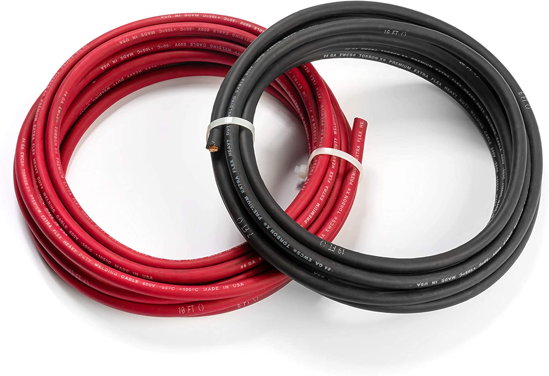 4 Gauge Torbon X - 15 Feet Black New sales Each Red + Premiu Indefinitely 100% Copper