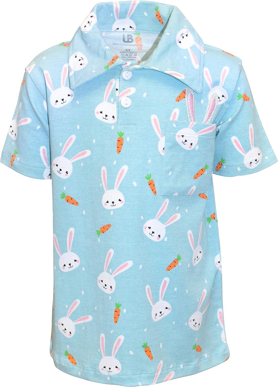 Unique Baby Boys Easter Bunny Carrot Collared Pullover Polo Shirt