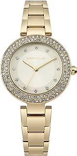 Karen Millen Women's Quartz Watch with Stainless-Steel Strap, Gold, 14 (Model: KM164GM