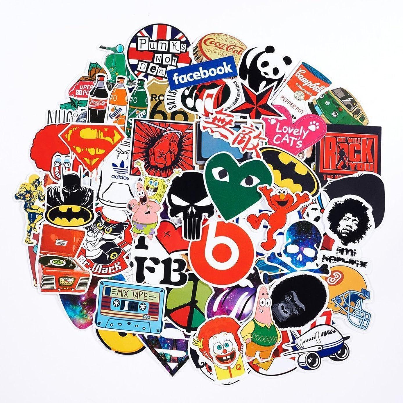 100-Pack SuprCool Waterproof Vinyl Stickers For Laptop, Macbook, Skateboard, Luggage, Car, Bicycle - Funny Random Sticker Set