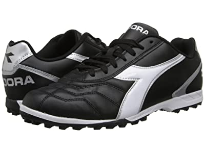 Diadora Capitano LT TF (Black/White/Silver) Men