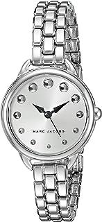 ساعة بمينا ابيض وسوار ستانلس ستيل للنساء من مارك جايكوبز، موديل Mj3497