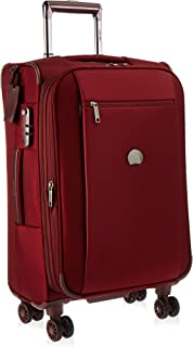 Delsey Luggage Montmartre 21 Inch Expandable Spinner Carry On Suitcase, Bordeaux