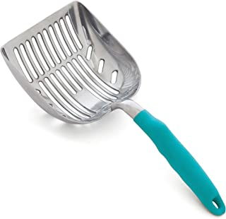 DuraScoop Jumbo Cat Litter Scoop, All Metal End-to-End with Solid Core, Sifter with Deep..