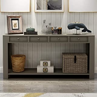 P PURLOVE Console Table for Entryway Hallway 64