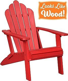Attrayant PolyTEAK Seashell Oversized Folding Adirondack Chair, Cardinal Red