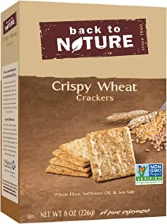 Back to Nature Crackers, Non-GMO Crispy Wheat, 8 Ounce