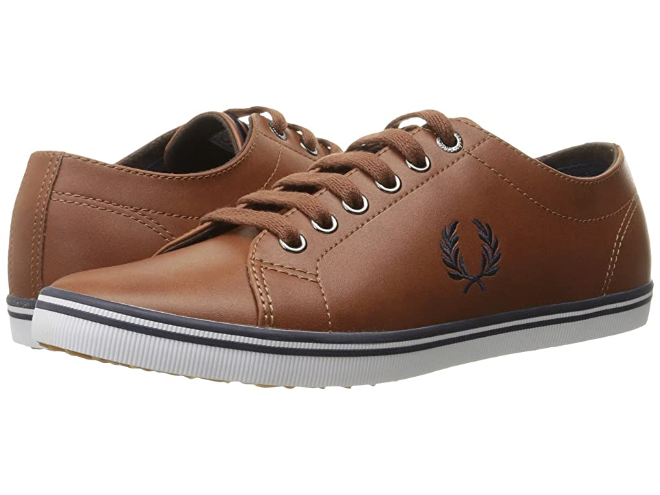 Fred Perry Kingston Leather (Tan/Carbon Blue 1) Men's Lace up casual Shoes