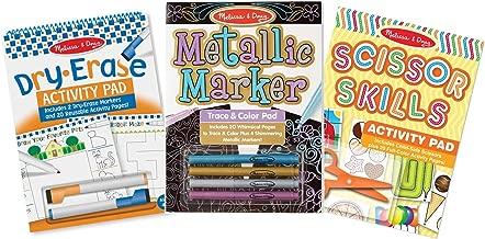 Melissa & Doug Creative Activity Pad 3 Pack - Scissor Skills, Dry-Erase Fun, Metallic Markers, Multicolor