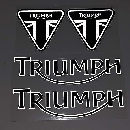 para Triumph Casco Motocicleta Etiqueta Etiqueta Etiqueta Etiqueta Etiqueta Reflectante Etiqueta En Pegatina De Coche Adecuado para Triumph Logo (Color : A)