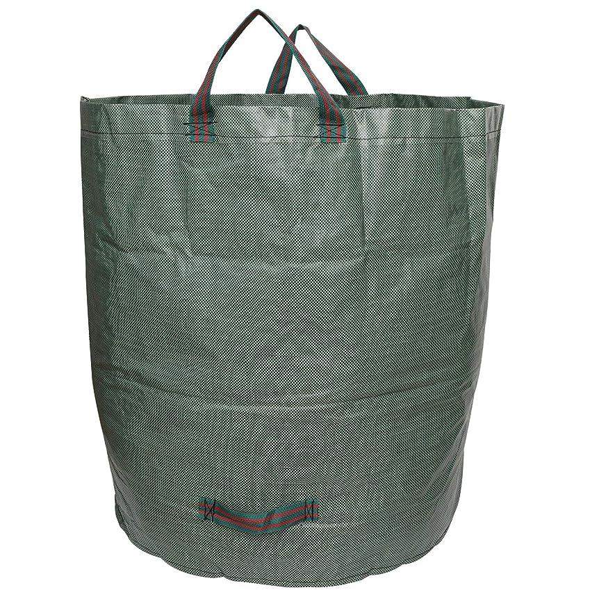 のぞき穴動かすわかるBNSPLY ガーデンバッグ ガーデンバケツ ゴミバッグ 集草バッグ 収穫かご 折り畳み 大容量 自立式 園芸用 お庭の清掃 再利用可能 272L 1枚