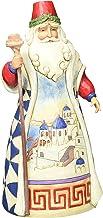Enesco Jim Shore Heartwood Creek 7 inch Stone Resin Greek Santa Figurine, Multicolor