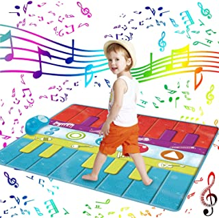 SUNLIN Duo Floor Piano Mat for Kids Toddlers, 26 Keys Keyboa
