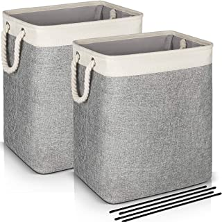 Laundry Basket with Handles 2 Pack, JOMARTO Collapsible Linen Laundry Hampers Built-in..