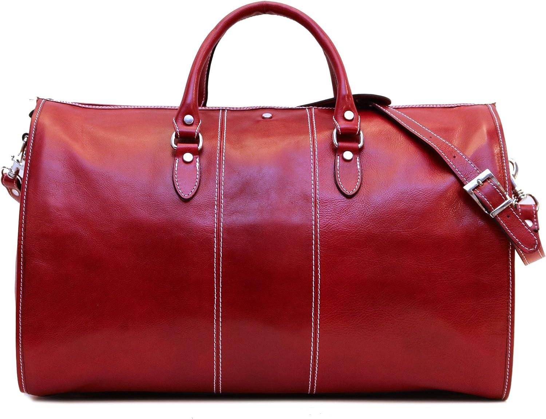Venezia Garment Duffle Travel Bag 2021 Suitcase Full Grain Red Colorado Springs Mall Lea in