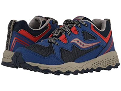 Saucony Kids Peregrine Shield 2 (Little Kid/Big Kid) (Navy/Red) Boys Shoes