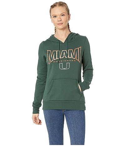 Champion College Miami Hurricanes Eco(r) University Fleece Hoodie (Dark Green) Women