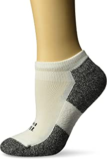 Thorlo, Lite Padded No Show Calcetines para mujer, acolchados, talla M, color blanco Mujer