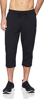 Peak Velocity Men's Metro Fleece Athletic-Fit Capri Pant, Black, XX-Large
