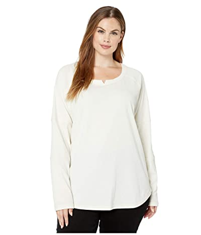 Columbia Plus Size Fall Pinetm Washed Crew (Chalk) Women