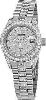 Akribos XXIV Women's AK487SS Diamond Quartz Stainless Steel Bracelet Watch