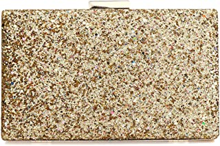 Sequin Glitter Clutch Bag with Hanging Strap Evening Handbags Wedding Purse for Women Ladies Gift Ideal