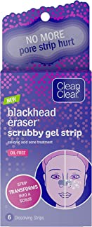 Clean & Clear Blackhead Scrubby Gel Pore Strips with Salicylic Acid Acne Treatment, Oil-Free & Non-Comedogenic, 6 ct.