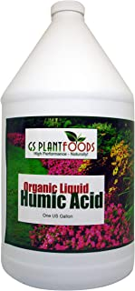 Organic Liquid Humic Acid with Fulvic Increased Nutrient Uptake for Turf, Garden and Soil Conditioning 1 Gallon Concentrat...