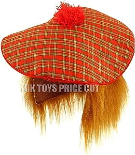 Star Products Star55 Scottish Scots Tartan Tam Hat & Ginger Hair Wig Stag Night Fancy Dress Hat