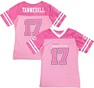 Outerstuff Ryan Tannehill Miami Dolphins #17 Pink Dazzle Girls Youth Jersey