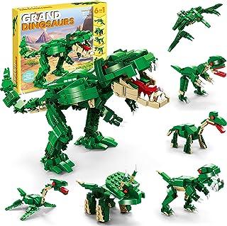 اسباب بازی های ساخت دایناسور STEM برای کودکان ، 6 در 1 اسباب بازی های ساختمانی دایناسور برای پسران