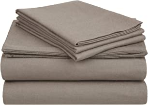 Superior Premium Cotton Flannel Sheets, All Season 100% Brushed Cotton Flannel Bedding, 3-Piece Sheet Set with Deep Fittin...