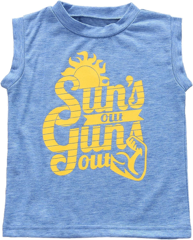 Toddler Boys Sun's Out Guns Out Tank Top Sleeevless T Shirt