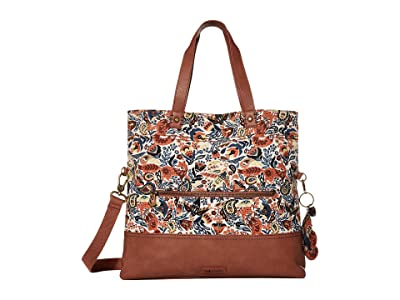 Sakroots Colby Convertible Tote (Clay Enchanted Forest) Handbags