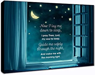 """LACOFFIO Now I Lay Me Down Wall Art Wooden Décor Plaque 9"""" x 6"""