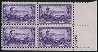 1951 3c US Postage Stamps Scott 1003 George Washington Army at Brooklyn Block 4