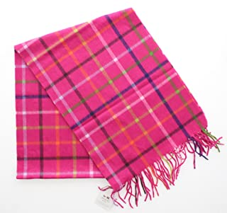 Coach 83100 Women's Cashmere Classic Legacy Tattersall Plaid Fringed Scarf