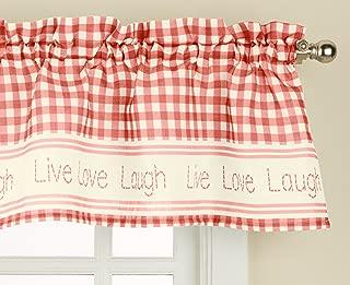 LORRAINE HOME FASHIONS Gingham Stitch Window Curtain Valance, 50