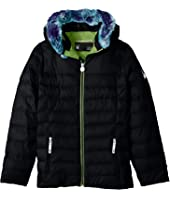 Spyder Kids Timeless Hoodie Faux Fur Down Jacket (Big Kids)