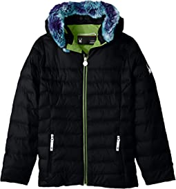 Timeless Hoodie Faux Fur Down Jacket (Big Kids)