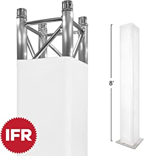 "Stretch Shapes 8 Ft. Truss Cover (also fits 2.5m) For 8` X 12"" Box Truss - Premium White IFR Stretch Fabric"