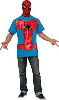 Rubie's Costume Men's Marvel Universe Spiderman Costume T-Shirt and Eye Mask